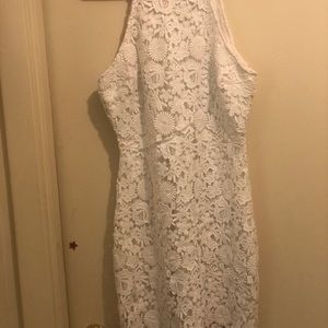 Lulu's Love Poem Ivory Lace Dress